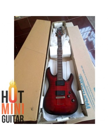The Authentic Guitar - Demon 6 - Schecter Diamond Demon6 Crimson Red Burst Series