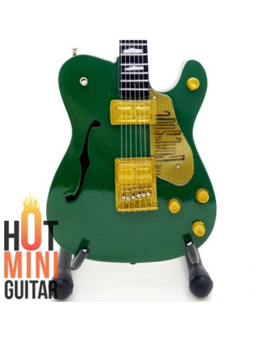 Miniature Guitar - Bono U2 - Fender Telecaster Goal is Soul Irish Green Custom
