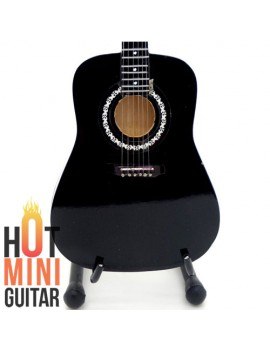 Miniature Acoustic Guitar - Johny Cash - Martin D35 Black Custom