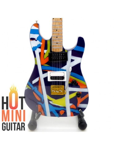 Miniature Guitar - Eddie Van Halen - Kramer Pacer Purple Striped Custom