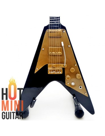 Miniature Guitar - Lenny Kravitz - Gibson Flying V Black 1967 Custom