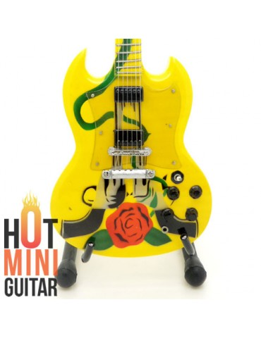 Miniature Guitar - Slash - Gibson SG Smoking Guns n Roses Tribute Custom