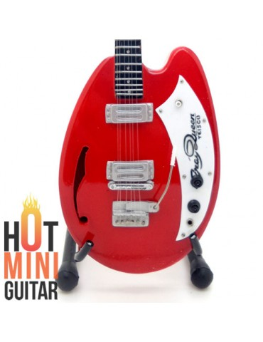 Miniature Guitar - Artist Pallette - Teisco May Queen Red Custom