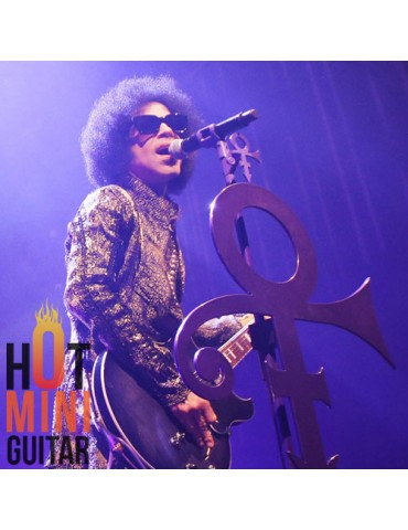 Mini Standing Microphone - Prince - The Authentic Art of Music Gear Limited Edition - Purple