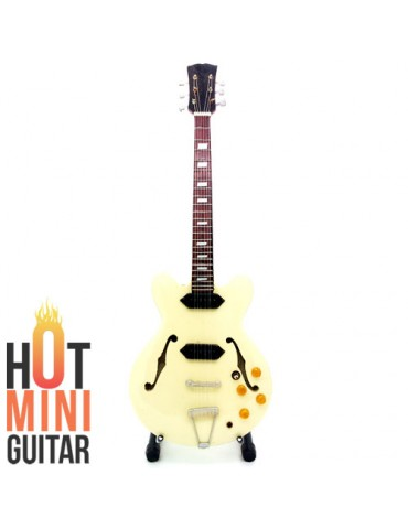 Miniature Guitar - John Lennon - Epiphone Casino Revolution Natural Inspired by Custom