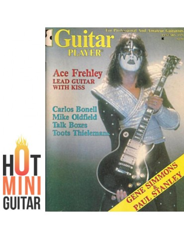 Miniature Guitar - Ace Frehley KISS - Gibson Les Paul Humbucker Black Custom