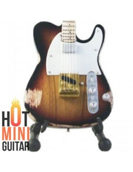 Miniature Guitar - Andy Summers - Fender Telecaster Tobacco Relic Custom