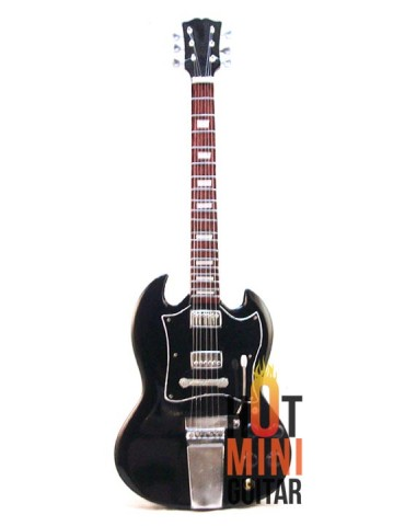Miniature Guitar - Angus Young - Gibson SG Black Vintage Reissue Custom Signature