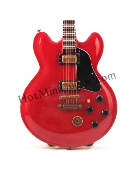 Miniature Guitar - B.B. King - Gibson Lucille Red Signature Reissue Custom