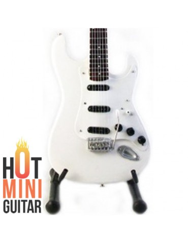 Miniature Guitar - Ritchie Blackmore - Fender Stratocaster Olympic White Custom