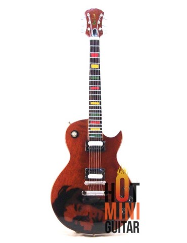 Miniature Guitar - Bob Marley - Gibson Epiphone Les Paul One Love Tribute Reissue Custom