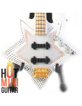 Miniature Bass Guitar - Bootsy Collins - Washburn Star Custom Bass