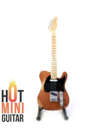 Miniature Guitar - Bruce Spingsteen - Fender Telecaster 1952 Reissue Natural Custom