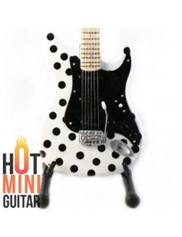 Miniature Guitar - Buddy Guy - Fender Stratocaster Polkadot White Custom