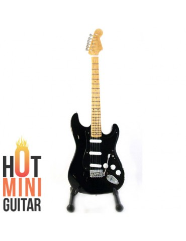 Miniature Guitar - David Gilmour - Fender Stratocaster Over Black Relic Reissue Custom