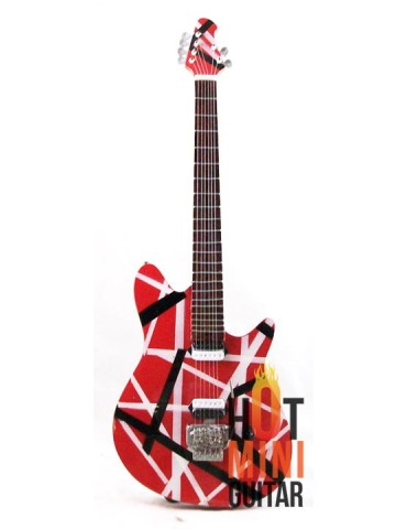 Miniature Guitar - Eddie Van Halen - ErnieBall OLP-II Axis Music Man Striped Red Custom