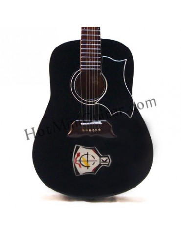 Miniature Guitar - Elvis Presley - Gibson Dove Ebony Acoustic with Kenpo Karate Custom