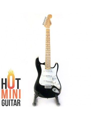 Miniature Guitar - Eric Clapton - Fender Stratocaster Blackie Relic Custom