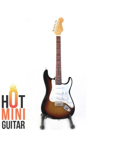 Miniature Guitar - Eric Johnson - Fender Stratocaster TobaccoBurst Signature Custom
