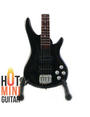 Miniature Bass Guitar - Fieldy KORN - Ibanez K5 5 String Black Custom