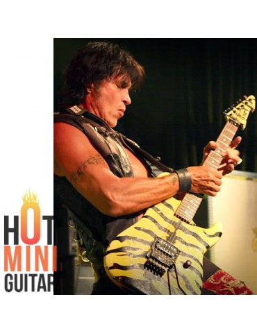 Miniature Guitar - George Lynch - ESP Tiger Yellow M1 Custom