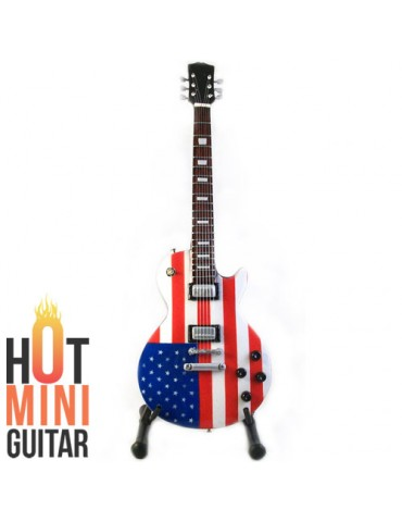 Miniature Guitar - Joe Perry - Gibson Les Paul US Flag Custom