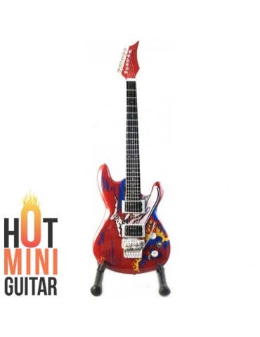 Miniature Guitar - Joe Satriani - Ibanez JS20th Surfing with Alien Red Custom