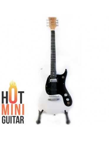 Miniature Guitar - Johnny Ramone - Eastwood Mosrite White Custom