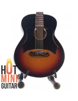Miniature Acoustic Guitar - Johny Cash - Gibson J-200 Vintage Custom