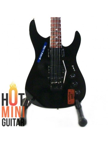 Miniature Guitar - Kirk Hammett - ESP Caution Hot KH-2 Black Custom