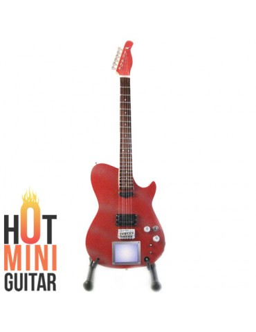 Miniature Guitar - Matt Bellamy - Manson Glitter Red Custom