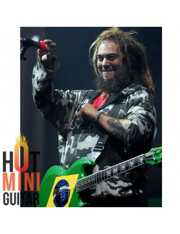 Miniature Guitar - Max Cavalera - ESP Brazilian Green MC600 LTD Custom