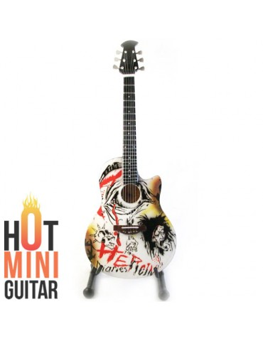 Miniature Guitar - Nikki Sixx - Ovation Celebrity NS28 Heroin Diaries Custom