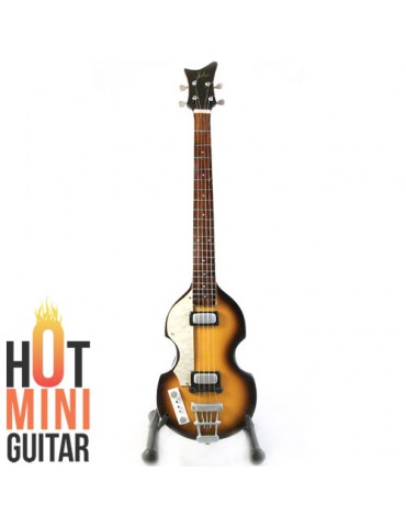 Miniature Bass Guitar - Paul McCartney - Hofner Violin Bass 500/1 with Pickguard Custom