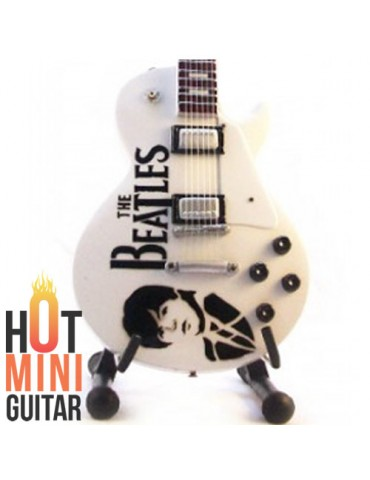 Miniature Guitar - Paul McCartney - Gibson Les Paul Tribute White Custom