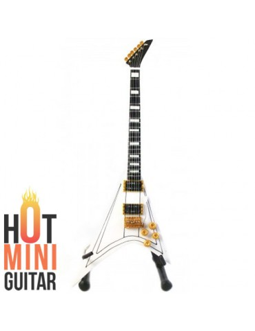 Miniature Guitar - Randy Rhoads - Jackson RR-1 Flying V White Custom