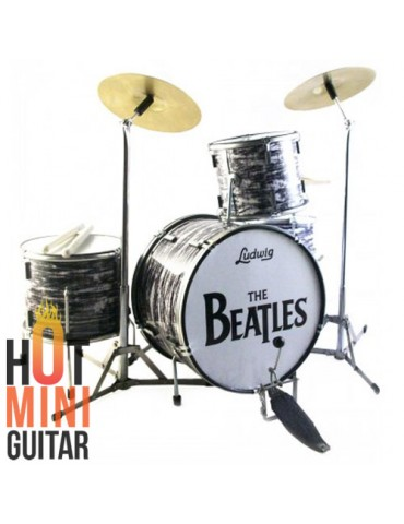 Miniature Drum - Ringo Starr The Beatles - Ludwig Oyster Clasicc White Custom Set