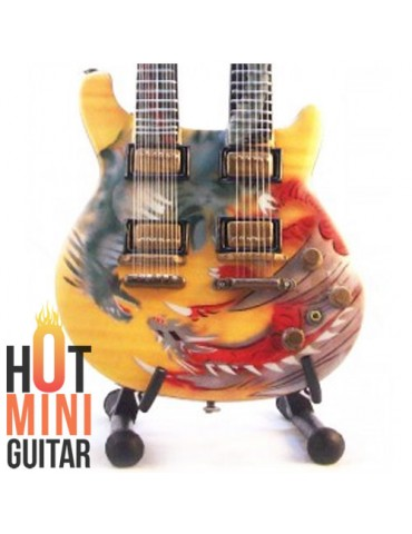 Miniature Guitar - Santana - PRS Yellow Dragon Double Neck Signature Custom