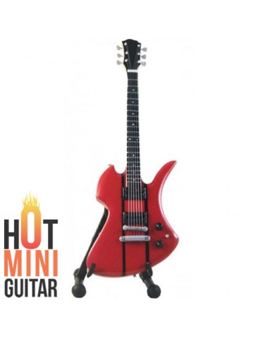 Miniature Guitar - Slash - Mockingbird B.C Rich SL Red Custom