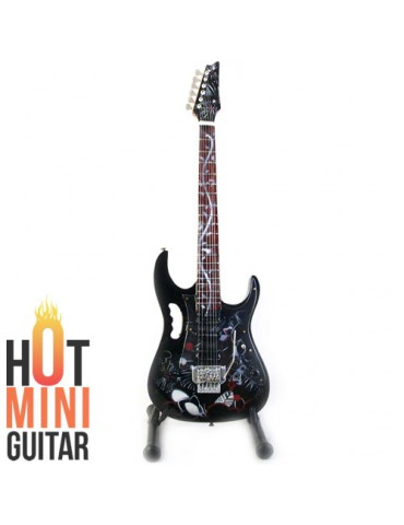 Miniature Guitar - Steve Vai - Ibanez JEM-77 FP-2 Floral Pattern Tree of Life Custom