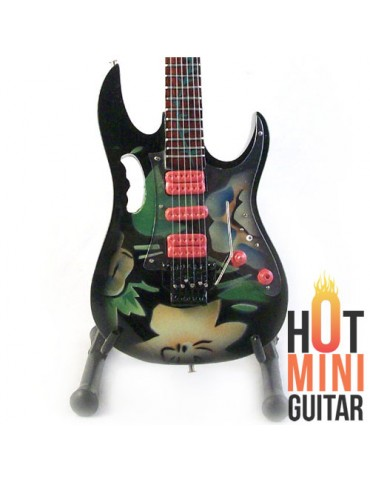 Miniature Guitar - Steve Vai - Ibanez JEM-77 FP Floral Pattern Tree of Life Custom