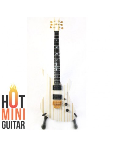 Miniature Guitar - Synyster Gates - Schecter Syn White Gold Signature Custom