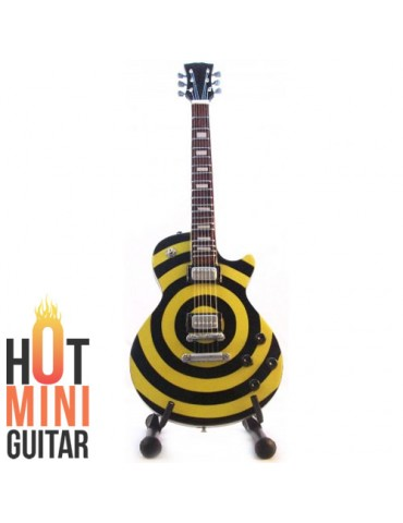 Miniature Guitar - Zakk Wylde - Gibson Les Paul Bullseye Yellow Black Custom