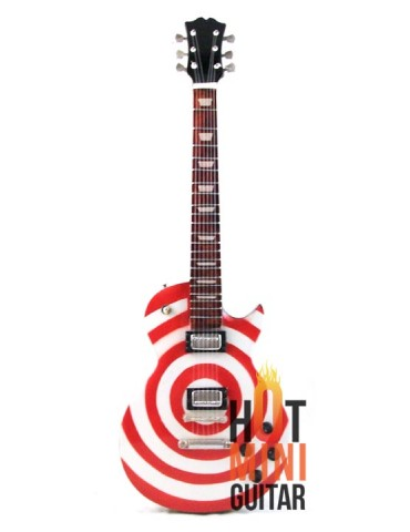 Miniature Guitar - Zakk Wylde - Gibson Les Paul Bullseye Red White Custom